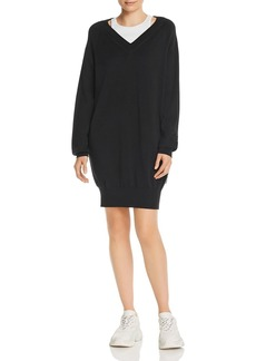 T by Alexander Wang alexanderwang.t Layered-Look Sweater Dress