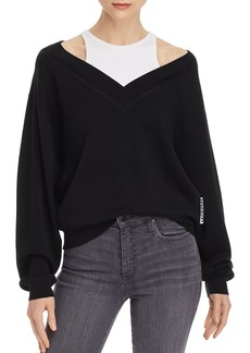 T by Alexander Wang alexanderwang.t Layered-Look Wool Sweater