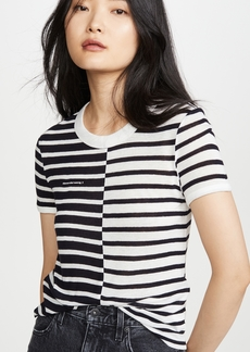 T by Alexander Wang alexanderwang.t Mix Print Stripe Boy Tee