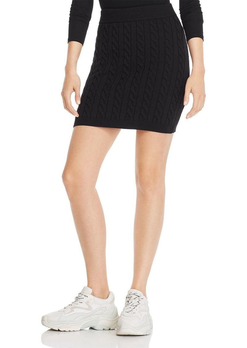 T by Alexander Wang alexanderwang.t Shrunken Cable-Knit Mini Skirt
