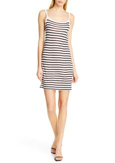 T by Alexander Wang alexanderwang.t Stripe Slub Jersey Tank Dress