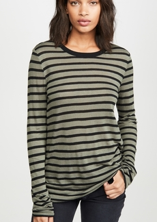 T by Alexander Wang alexanderwang.t Striped Slub Long Sleeve Top