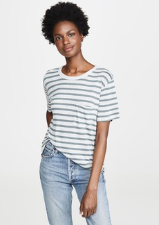 T by Alexander Wang alexanderwang.t Striped Slub Short Sleeve Tee