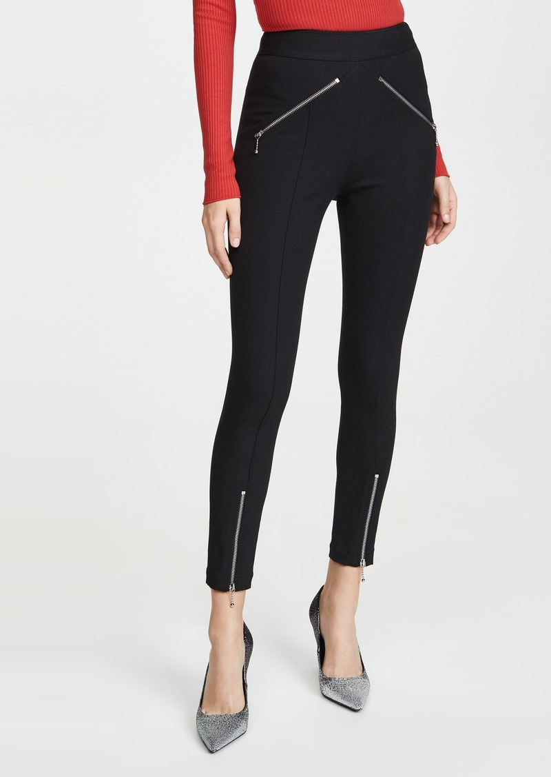 T by Alexander Wang alexanderwang.t Super Stretch Pants with Ball Chain Puller