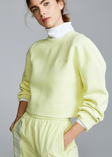 T by Alexander Wang alexanderwang.t Terry Cropped Pullover
