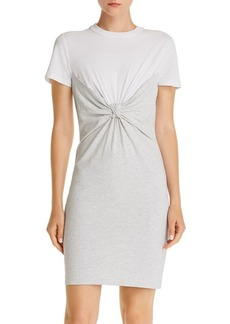 T by Alexander Wang Alexanderwang.t Twist-Front T-Shirt Dress