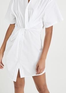 T by Alexander Wang alexanderwang.t Twisted Placket Short Sleeve Dress