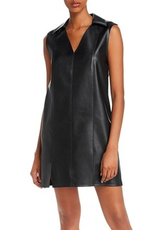 T by Alexander Wang alexanderwang.t Washable Faux Leather Mini Dress
