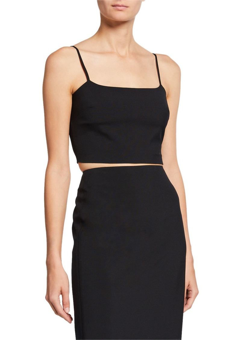 T by Alexander Wang alexanderwang.t Washable Wool Square-Neck Crop Top
