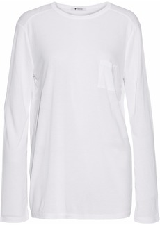 T by Alexander Wang Alexanderwang.t Woman Classic Oversized Jersey Top White
