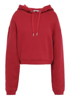 T by Alexander Wang Alexanderwang.t Woman Cotton-blend Fleece Hoodie Claret
