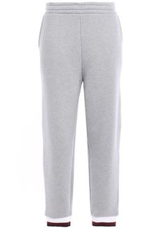 T by Alexander Wang Alexanderwang.t Woman Cotton-blend Fleece Track Pants Gray
