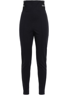 T by Alexander Wang Alexanderwang.t Woman Cotton-blend Gabardine Skinny Pants Black