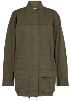 T by Alexander Wang Alexanderwang.t Woman Cotton-gabardine Jacket Army Green