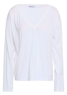 T by Alexander Wang Alexanderwang.t Woman Cotton-jersey Top White