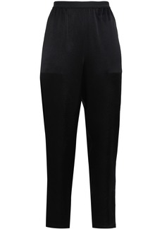 T by Alexander Wang Alexanderwang.t Woman Crepe De Chine Tapered Pants Black