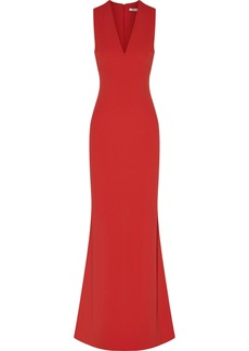 T by Alexander Wang Alexanderwang.t Woman Cutout Crepe Maxi Dress Red