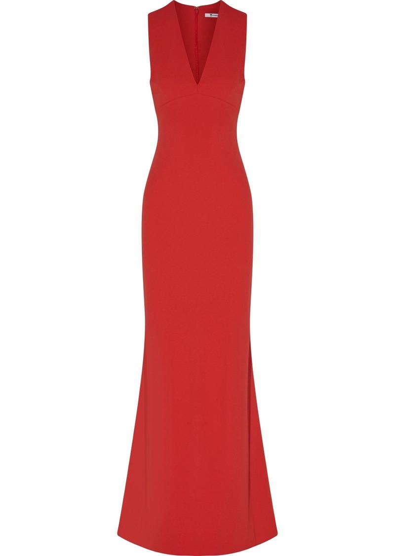 T by Alexander Wang Alexanderwang.t Woman Cutout Crepe Maxi Dress Red