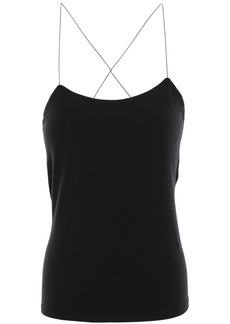 T by Alexander Wang Alexanderwang.t Woman Cutout Stretch Modal-jersey Camisole Black