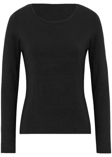 T by Alexander Wang Alexanderwang.t Woman Cutout Stretch-modal Jersey Top Black
