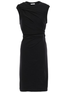 T by Alexander Wang Alexanderwang.t Woman Cutout Twisted Stretch Cotton-jersey Dress Black