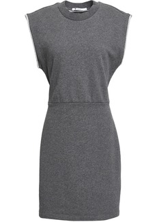 T by Alexander Wang Alexanderwang.t Woman French Cotton-terry Mini Dress Dark Gray