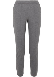 T by Alexander Wang Alexanderwang.t Woman French Cotton-terry Track Pants Dark Gray