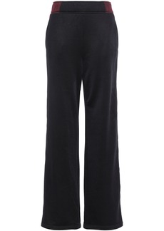 T by Alexander Wang Alexanderwang.t Woman French-terry Wide-leg Pants Black