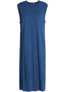 T by Alexander Wang Alexanderwang.t Woman Layered Mélange Jersey Dress Cobalt Blue