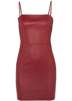 T by Alexander Wang Alexanderwang.t Woman Leather Mini Dress Claret