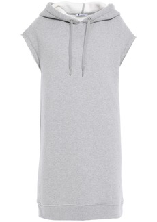T by Alexander Wang Alexanderwang.t Woman Oversized Cotton-blend Fleece Hooded Sweatshirt Gray