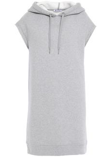 T by Alexander Wang Alexanderwang.t Woman Oversized Cotton-blend Fleece Hooded Sweatshirt Gray