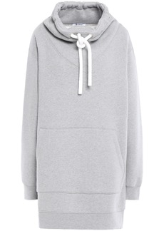 T by Alexander Wang Alexanderwang.t Woman Oversized Cotton-blend Fleece Hoodie Gray