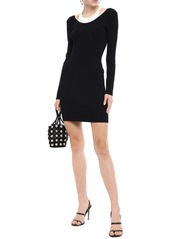 T by Alexander Wang Alexanderwang.t Woman Paneled Ribbed-knit Mini Dress Black