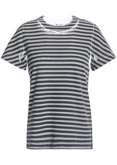 T by Alexander Wang Alexanderwang.t Woman Printed Cotton-jersey T-shirt Black