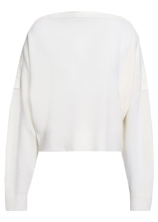 T by Alexander Wang Alexanderwang.t Woman Ribbed Merino Wool-blend Sweater Ivory