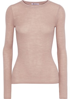 T by Alexander Wang Alexanderwang.t Woman Ribbed Wool-blend Top Antique Rose