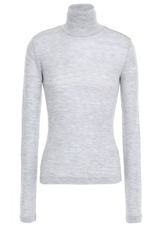 T by Alexander Wang Alexanderwang.t Woman Ribbed Wool Turtleneck Top Gray