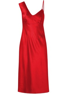 T by Alexander Wang Alexanderwang.t Woman Satin Midi Dress Red