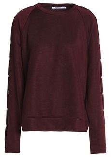 T by Alexander Wang Alexanderwang.t Woman Snap-detailed Terry Sweatshirt Burgundy