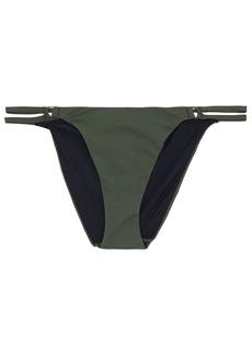T by Alexander Wang Alexanderwang.t Woman Strap-detailed Low-rise Bikini Briefs Forest Green