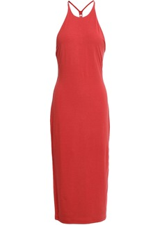 T by Alexander Wang Alexanderwang.t Woman Stretch-modal Jersey Midi Dress Red