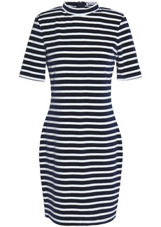 T by Alexander Wang Alexanderwang.t Woman Striped Chenille Mini Dress Navy