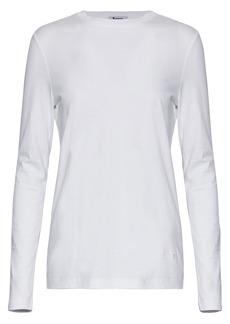 T by Alexander Wang Alexanderwang.t Woman Striped Cotton-jersey Top White