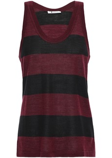 T by Alexander Wang Alexanderwang.t Woman Striped Merino Wool-blend-tank Black