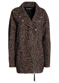T by Alexander Wang Alexanderwang.t Woman Tweed Coat Black