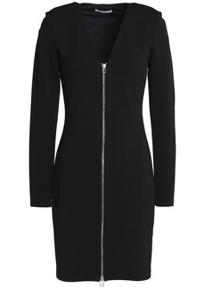 T by Alexander Wang Alexanderwang.t Woman Zip-detailed Stretch-jersey Mini Dress Black