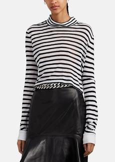 T by Alexander Wang alexanderwang.t Women's Striped Open-Knit Crop Top