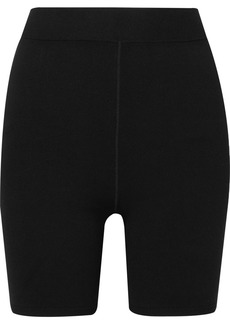 T by Alexander Wang Appliquéd Stretch-jersey Shorts