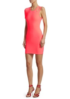 T by Alexander Wang Asymmetric Bodycon Mini Dress